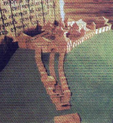 Макет Любецького замку за Рибаковим