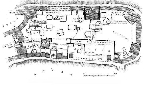 План Любецького замку