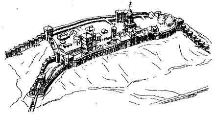 Макет Любецького замку
