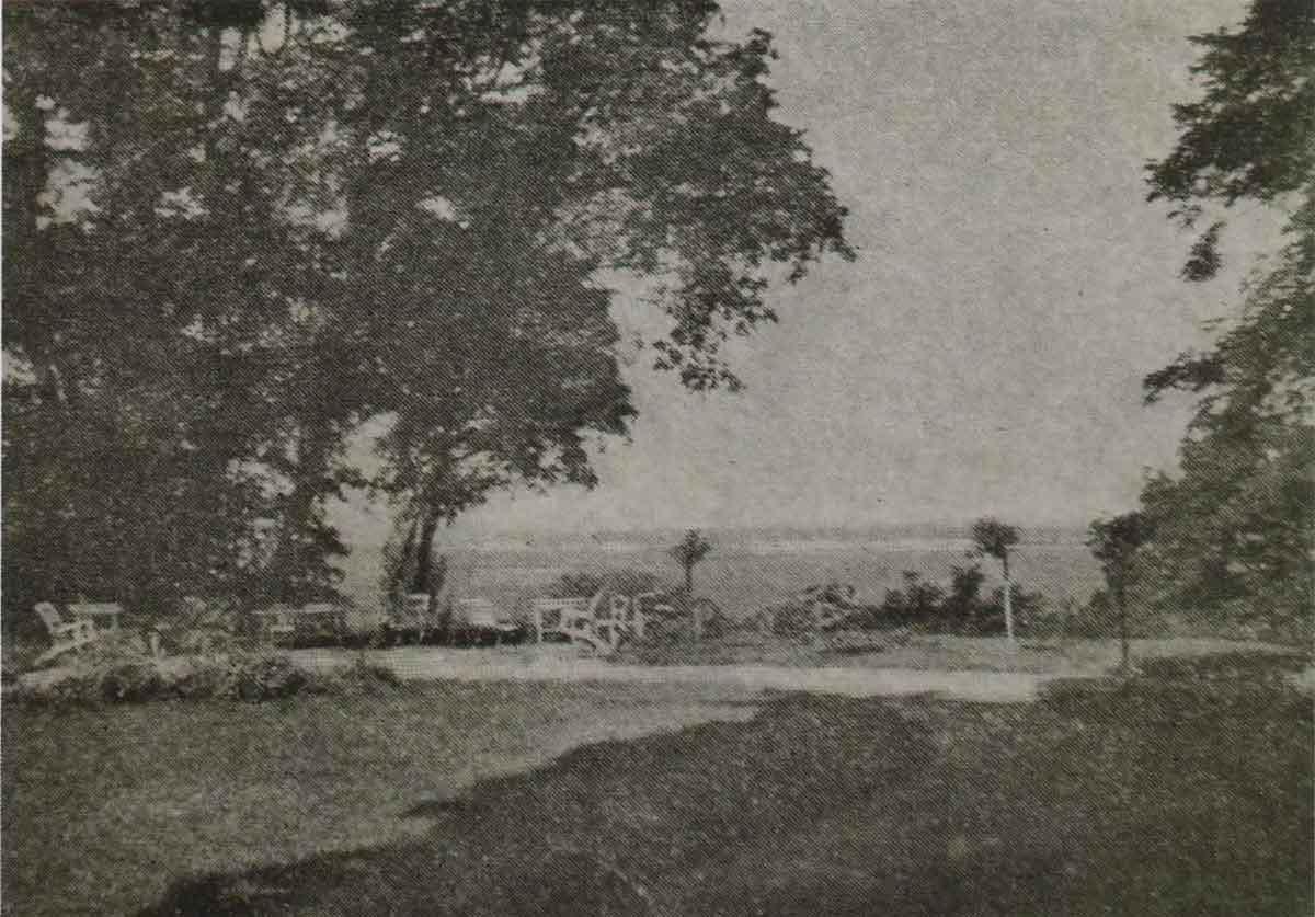 Любеч. Вид на заплаву Дніпра з парку Милорадовичів