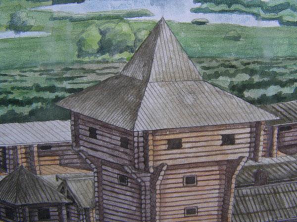 У центральній частині замку знаходилась велика башта, з якої контролювалась ситуація не лише всередині,але і за межами замку.