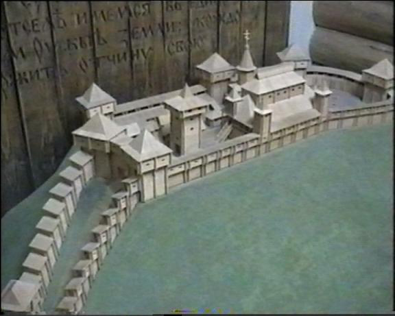 Макет замку в Чернігівському історичному музеї.